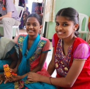 Girls at Abhaya home