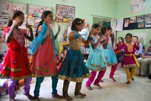 Dancing in the children home