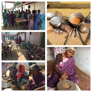 Tribal women and the cooking event
