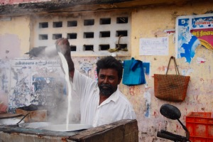 The tea maker - a fascinating way of preparation a real good chai