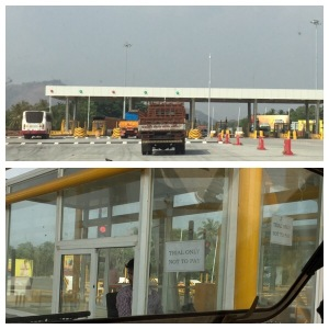 Toll station in  trial phase