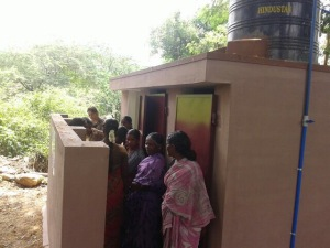The first public sanitation facility in the village