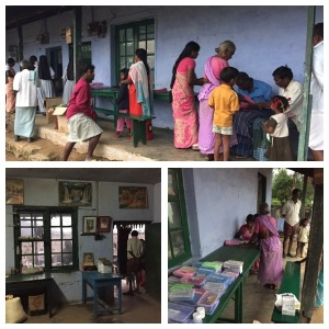 Valloni in the West Ghats - villagers are waiting for a medical visit