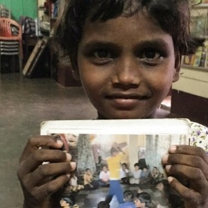 A girl in a children home in Mangalore