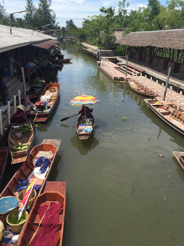 A small village floating market