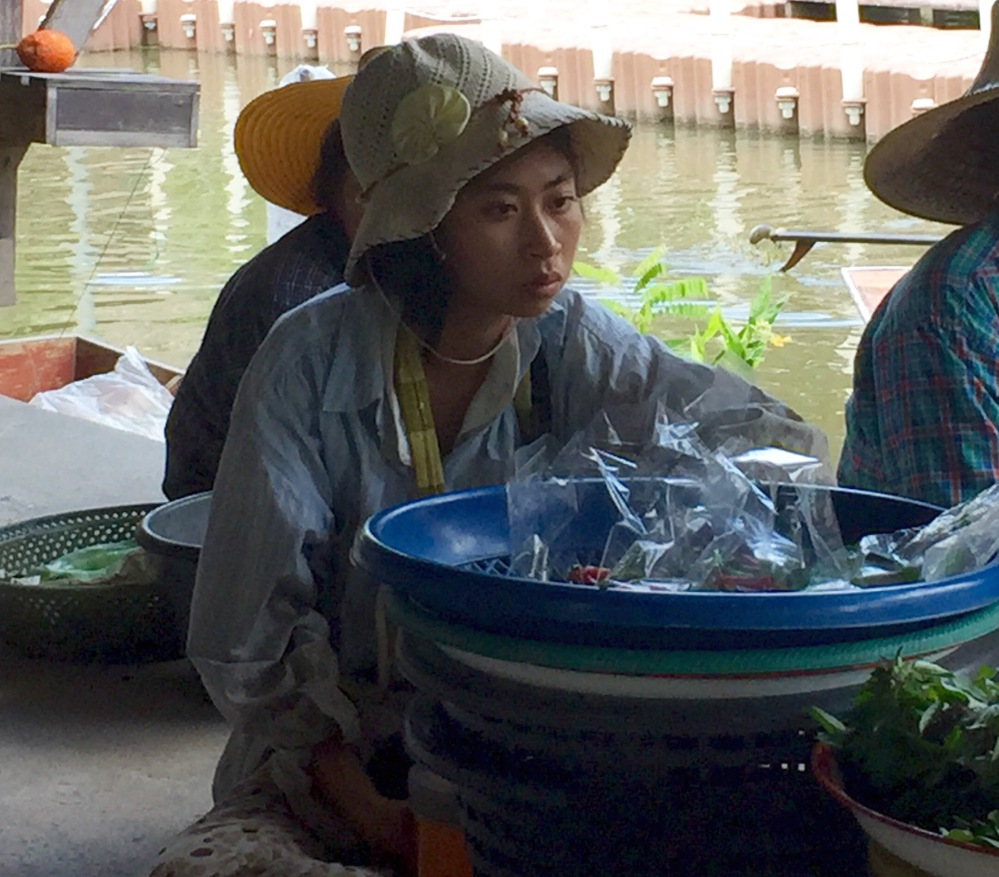 A small weekend floating market, 50 km away from Bangkok,