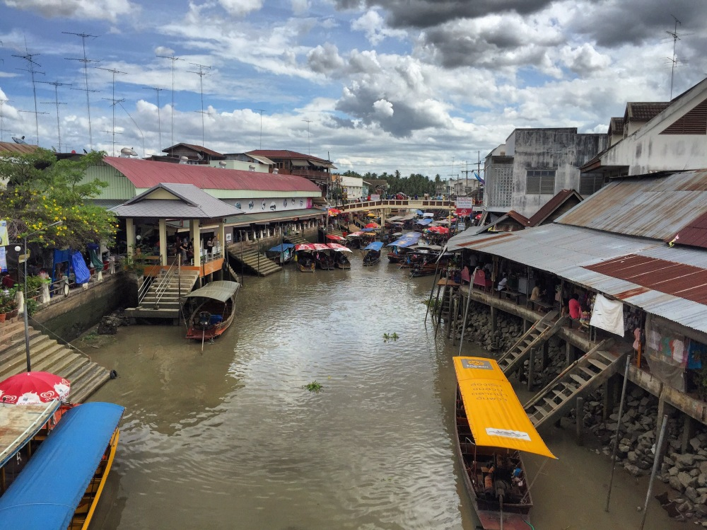 Amphawa, a floating market. Touristic, but nice.