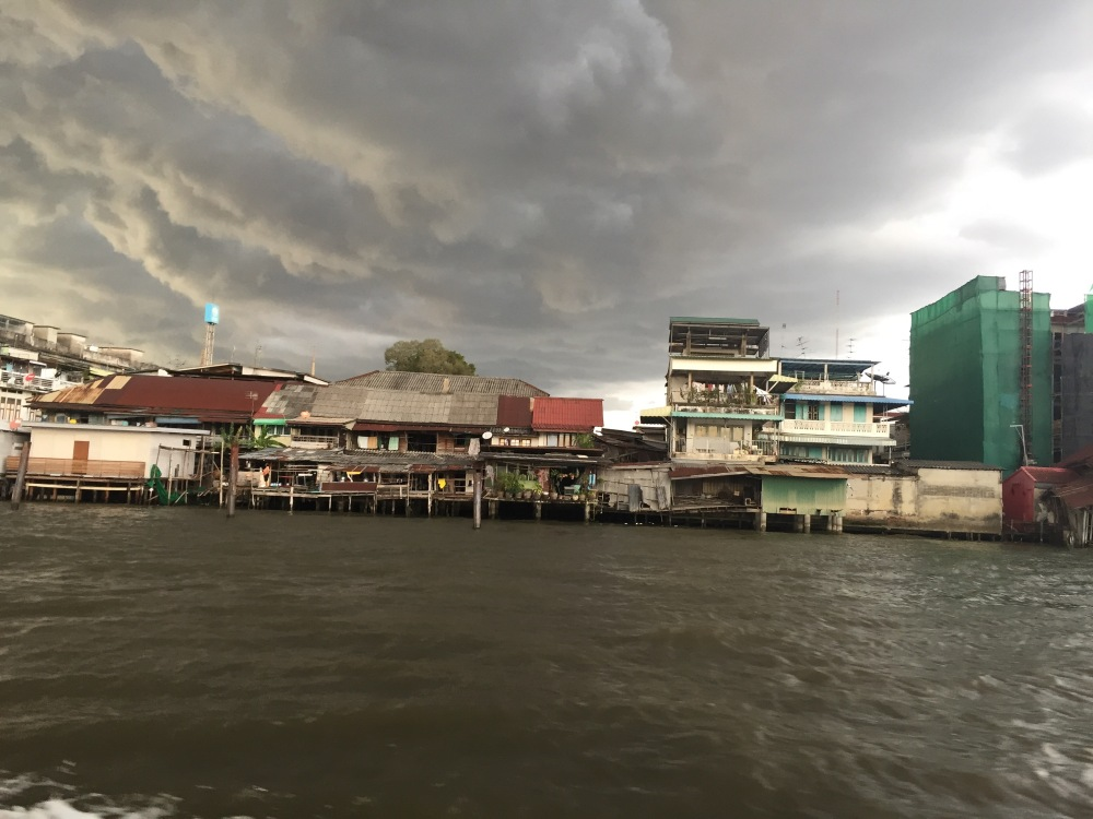 Monsoon clouds over the Chao Phraya river, Bangkok