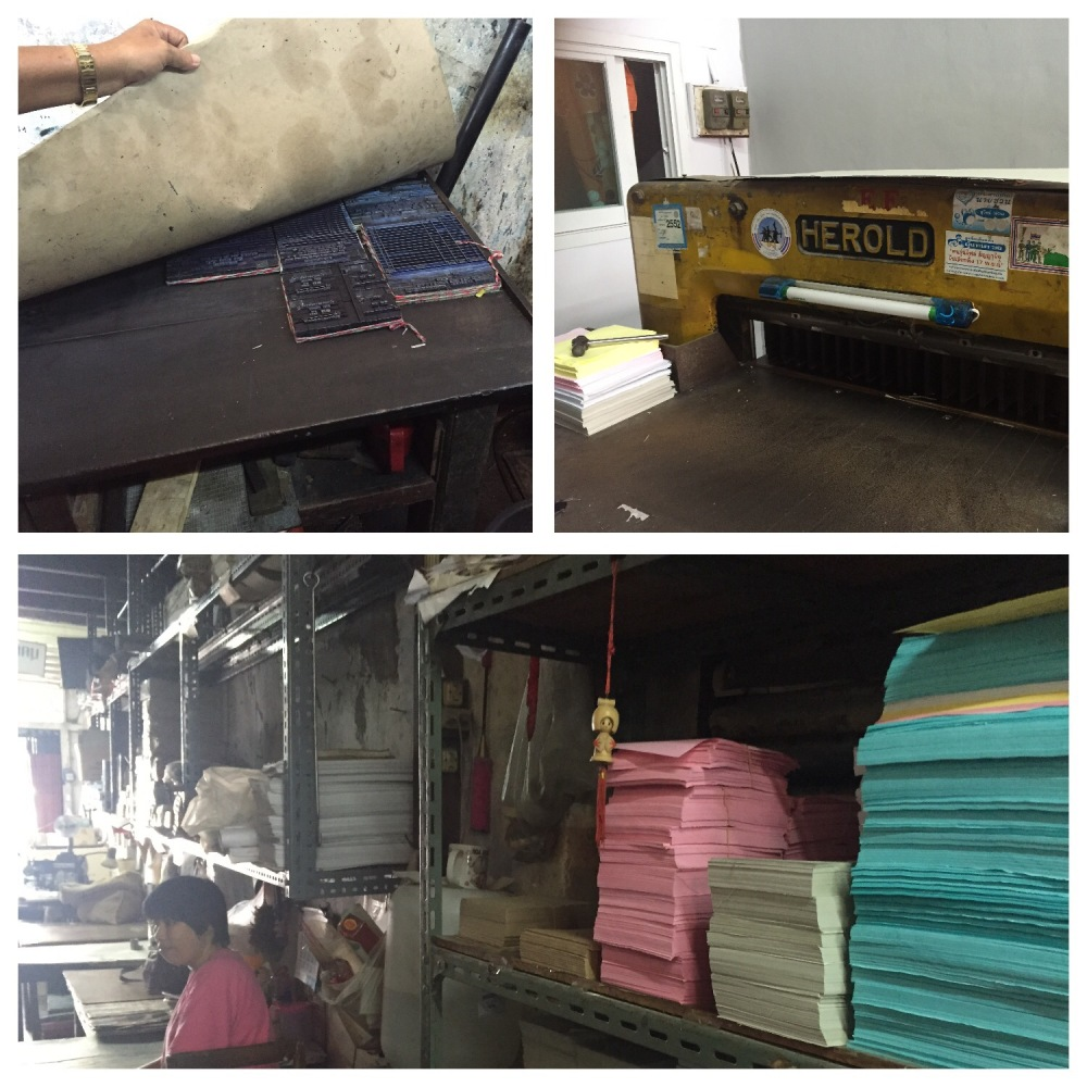 Papers, cutting machine and  form setting