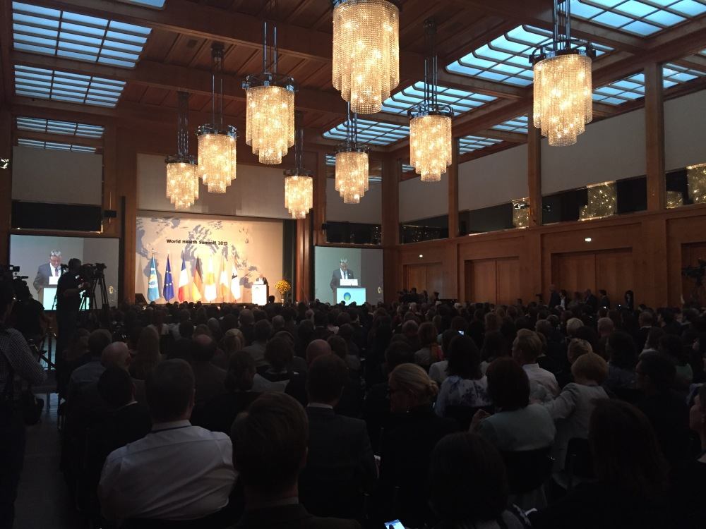 Welcome session at the World Health Summit in Berlin