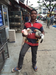 The chicken salesman in Bangalore city