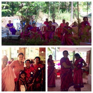 Annual celebration  of a SHG in a village close to  Mangalore