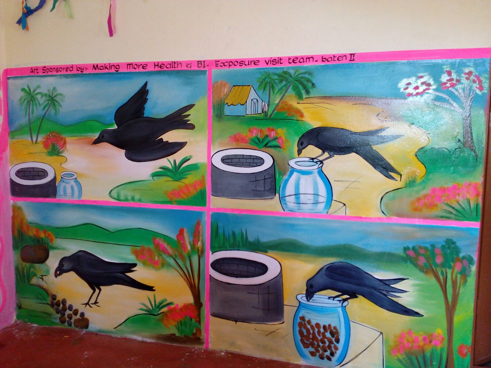 Colourful kindergarten paintings in India and an innovative ...