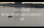 Talking to a business man at Cochin
