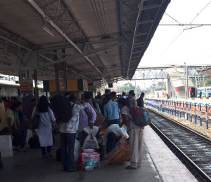 At the train station in Cochin