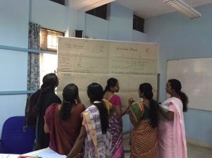 A workshop with kindergarten teachers from rural areas
