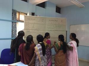 A workshop with kindergarten teachers from rural areas