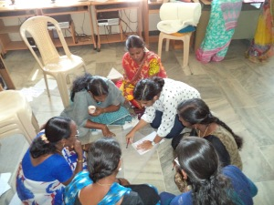 Women selfhelp groups learn how to tailor the  game