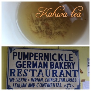 Kahwa tea and pumpernickel