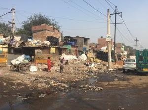 In an industrial area in Delhi
