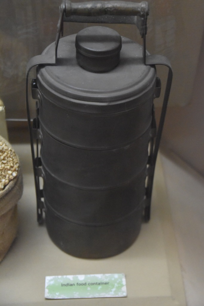 An Indian Food container in the National Museum of Kenya