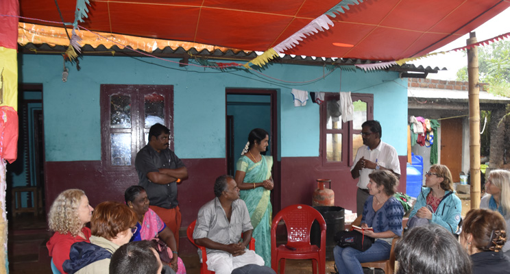 Talking to small farm holders in rural South India