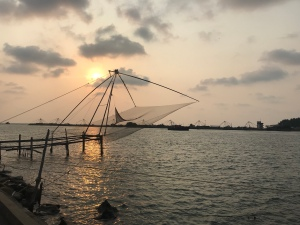 "Amazing sunset and the famous ""Chinese fishing nets"""