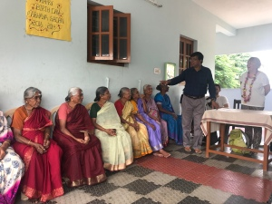 Visiting an elderly home in India